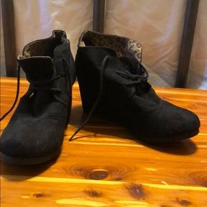 Black booties! Cute!